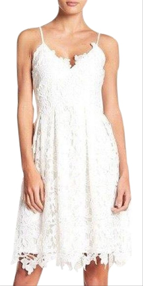 78a197dab5542 Love Ady White Lace Fit and Flare Mid-length Cocktail Dress Size 8 ...