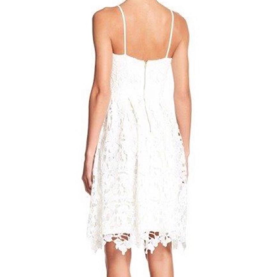 fc3aa775ba505 Love Ady White Lace Fit and Flare Mid-length Cocktail Dress Size 8 (M) -  Tradesy