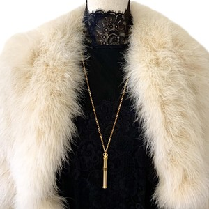 Gucci Vintage Gold Plated Perfume Bottle Pendant Necklace