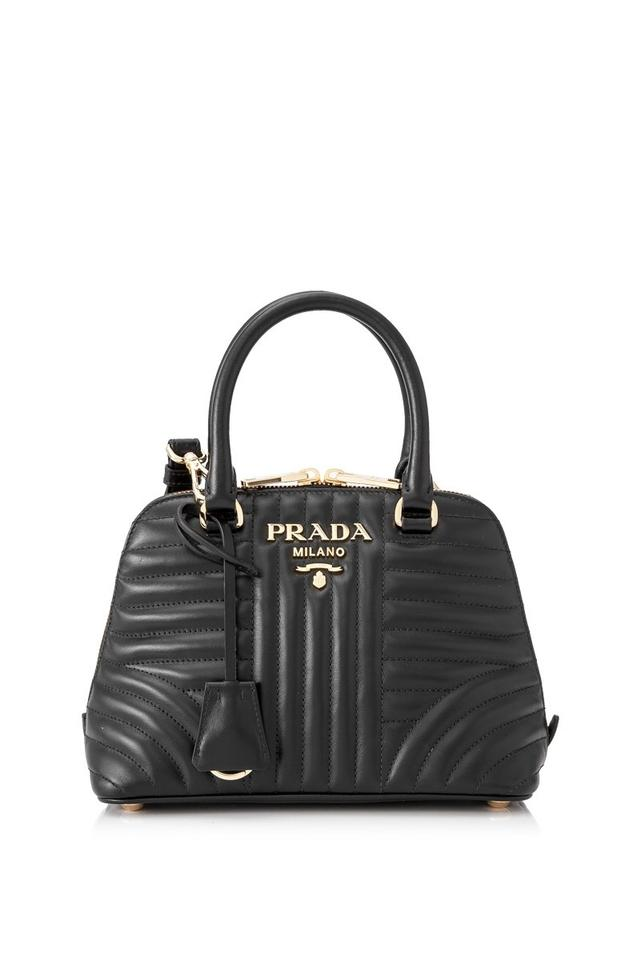 8d96688a579b Prada Soft Calf Impunture Shoulder Nero Cross Body Bag - Tradesy
