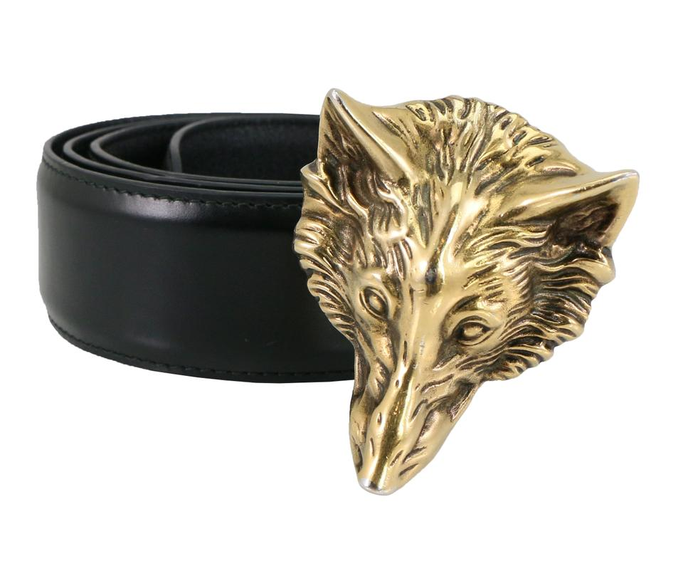 d17b81c40 Gucci Gucci Men's Wolf Head Leather Belt 430250 Image 0 ...