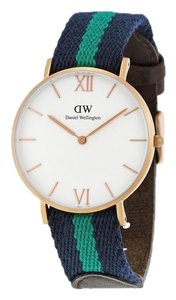 Daniel Wellington 0553DW Women's Two Tone Band with White Dial Analog Watch