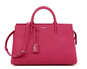 Saint Laurent Shoulder Tote Hand Satchel in Bubblegum