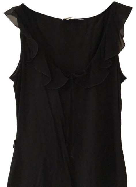 Item - Black Jeans Cotton and Silk Ruffle Blouse Tank Top/Cami Size 10 (M)