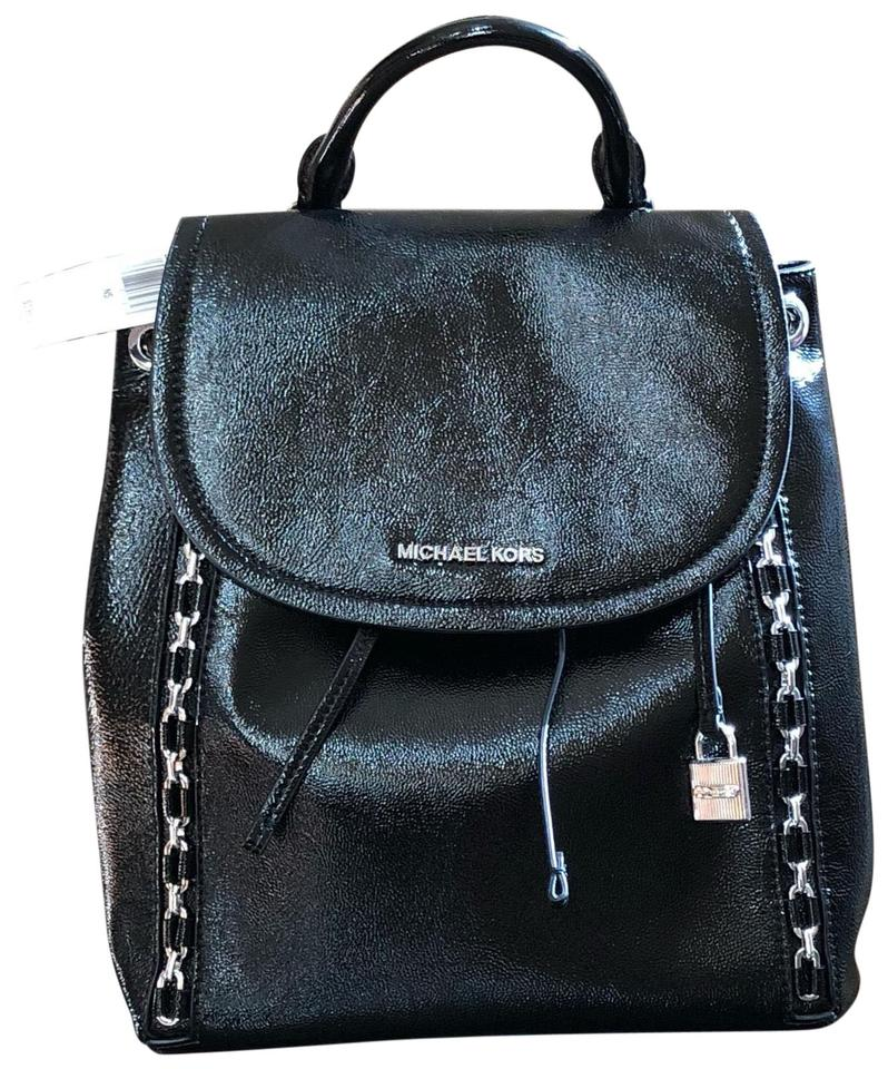 4b88a6da0cad Sadie Black Patent Leather Backpack. MICHAEL KORS