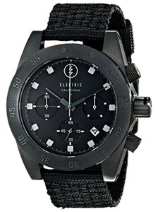 Electric Black Nylon Band Ew0030020005 Men's With Analog Dial Watch