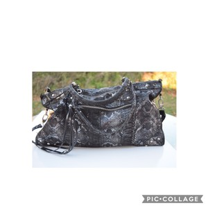Charlie Lapson Satchel in black & silver