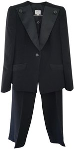 Armani Collezioni Armani Collezioni Black Tuxedo Elegant Evening Cocktail Pant Suit