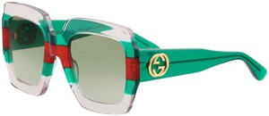 Gucci Gucci Pink green red green oversized GG 0178S Sunglasses NEW