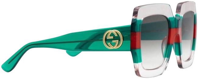 Item - Pink Green Red Green Oversized Striped Gg 0178s New Sunglasses