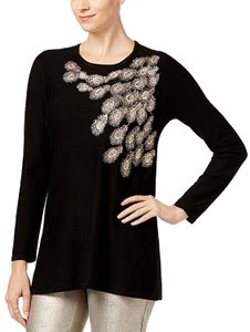 Alfani Metallic Embelishment Tunic Sweater