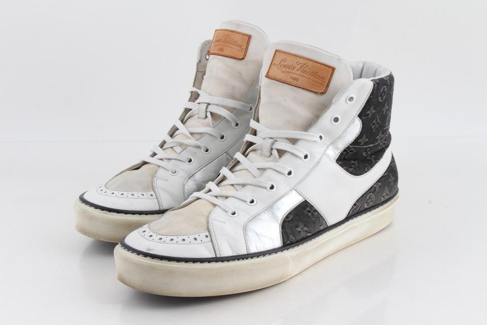 aadab725d87 Louis Vuitton Multicolor Denim Monogram High-top Sneakers Shoes 61% off  retail