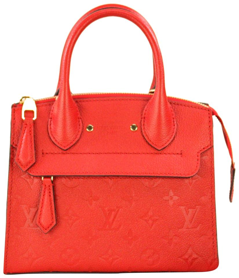 0892252d3 Louis Vuitton Pont-Neuf Mini Red Cowhide Leather Tote - Tradesy