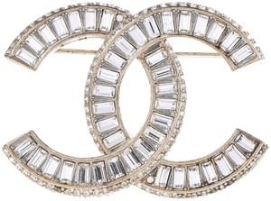 Chanel Large Brooch All Crystals CC Logo