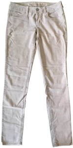 American Eagle Outfitters Corduroy Light Beige Skinny Pants Natural