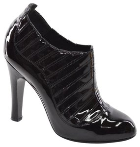 Chanel Italy Patent Ankle black Boots