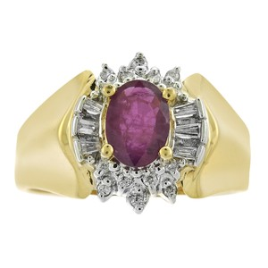 Avital & Co Jewelry 0.85 Carat Ruby And 0.18 Carat Diamond Vintage Ring in 14K Yellow Gold