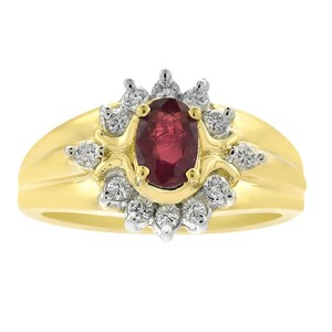 Avital & Co Jewelry 0.50 Carat Ruby And 0.20 Carat Diamond Vintage Ring in 14K Yellow Gold