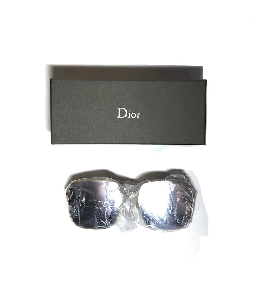 62ca75cfbd539 Dior Gold - Silver Mirror Lens Square Style Stellaire 1 83i0t- Free ...