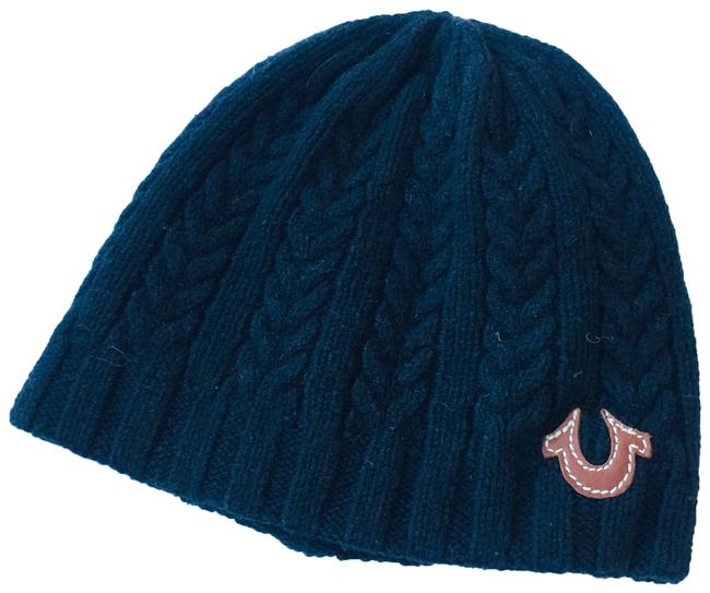 Item - Navy Cashmere & Wool Beanie Hat