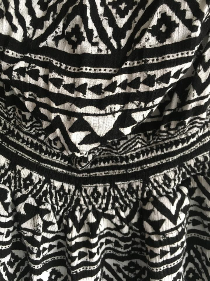 0c6b52db0a29 Forever 21 Black and White Tribal Pattern Romper Jumpsuit - Tradesy