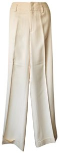 Banana Republic Suit Silk Wool New Trouser Pants Ivory cream