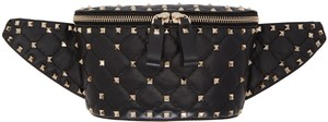 Valentino Rockstud Rockstud Belt Fanny Pack Belt Satchel in Black