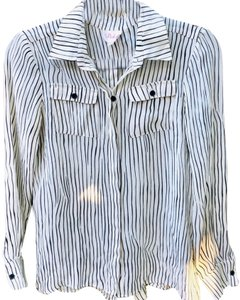 Parker Button Down Shirt black and white
