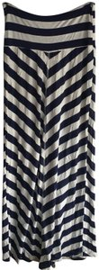 Lucy Love White Maxi Skirt Navy and Natural stripe