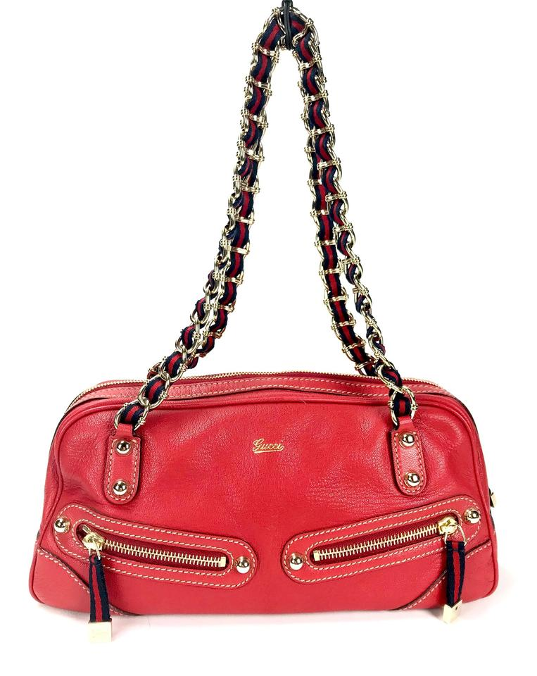 edf9c14726c Gucci Small Capri Bowler Red Leather Tote - Tradesy