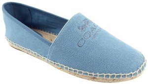 Coach Wagon New York Rhoda Slippers Smoking Slippers Baby Blue Flats