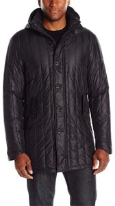 John Varvatos Quilted Parka Men's Black Jacket