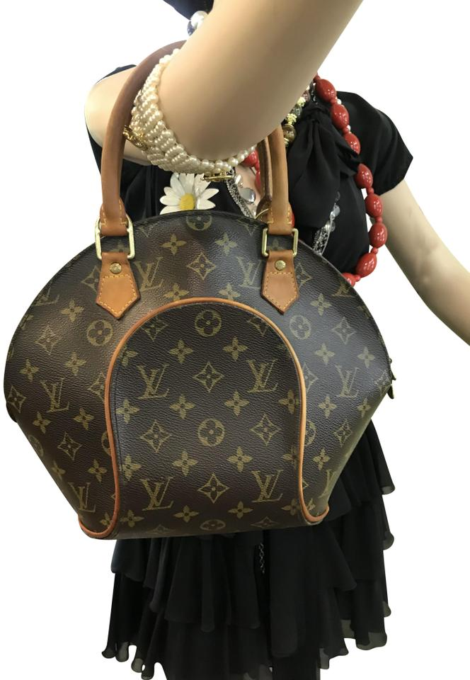 3c61cf860 Louis Vuitton Bowling Bag Ellipse Pm Monogram Clamshell Brown ...