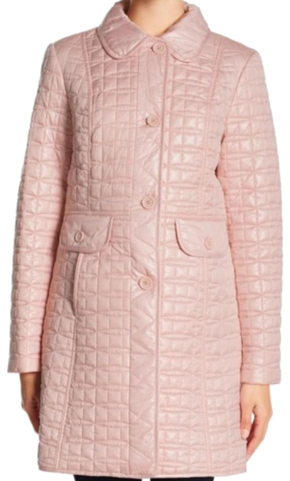 kate spade cameo pink new yotk quilted coat size 12 l tradesy