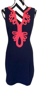 Lilly Pulitzer short dress Navy & Coral Pink on Tradesy