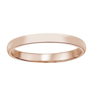 Avital & Co Jewelry 14K Rose Gold Comfort Fit Mens Wedding Band