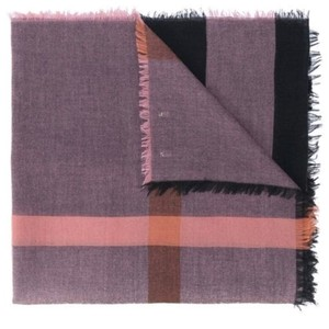 Burberry London Relaxed Mega Check square Scarf, Rose