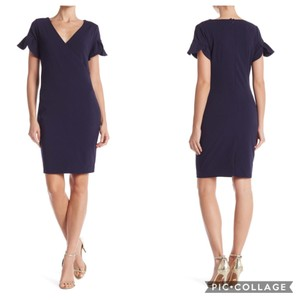 Alexia Admor short dress Dark Navy and Burgundy on Tradesy