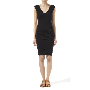 James Perse short dress Black Ruched Bodycon Mini on Tradesy