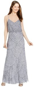 Adrianna Papell Wedding Bridesmaid Beaded Embroidered Sequin Dress
