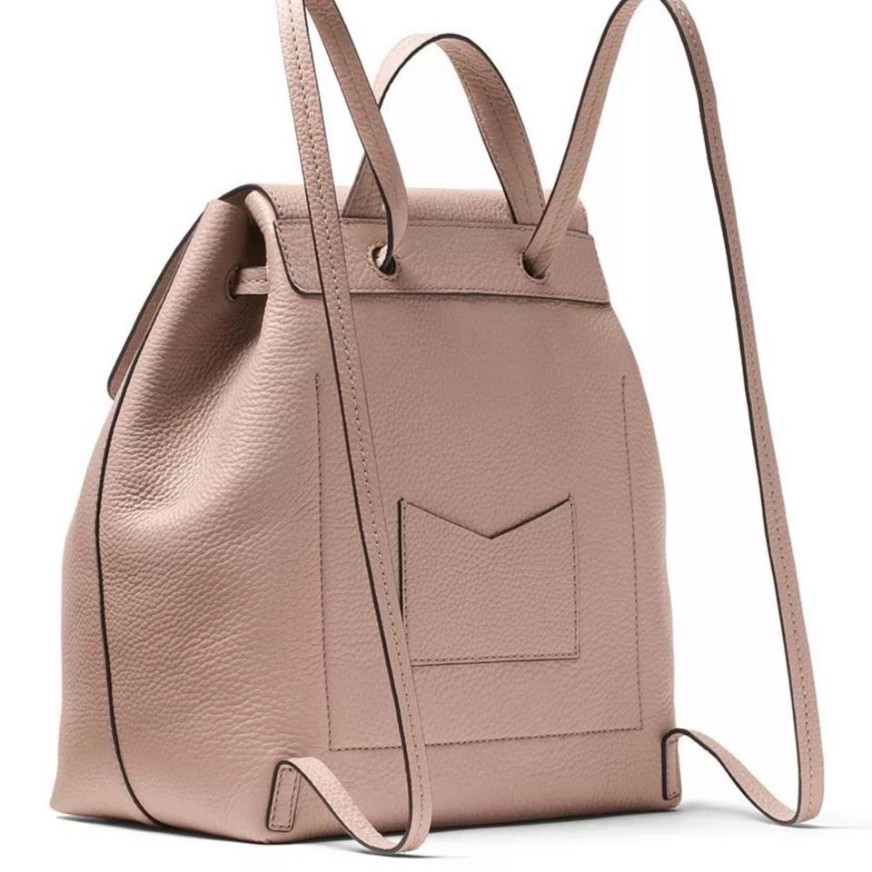 57e0539fcd1c Michael Kors Junie Medium Pebbled Fawn Patent Leather Backpack - Tradesy