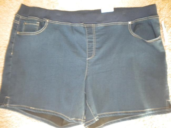 612138572f871 ... Terra   Sky New Elastic Waistband Stretch Soft Denim Mini Short Shorts  Blue