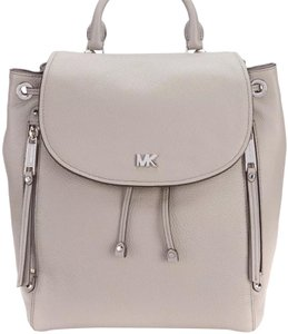 af08978c3477 Michael Kors Evie Pearl Grey 30s8szub2l Black Pebbled Leather ...