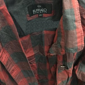 Buffalo David Bitton Button Down Shirt black & red