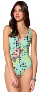 0bcf89cffc Urban Outfitters Multicolor Graphic Zip Front Nwot One-piece Bathing ...