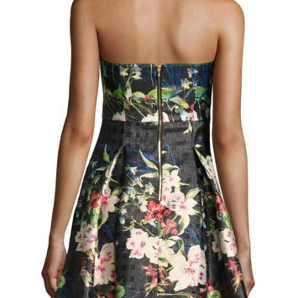 11bb5bdf38f6 Nicole Miller New York Strapless Floral Print Fit-and-flare Mid-length  Cocktail Dress Size 4 (S) - Tradesy