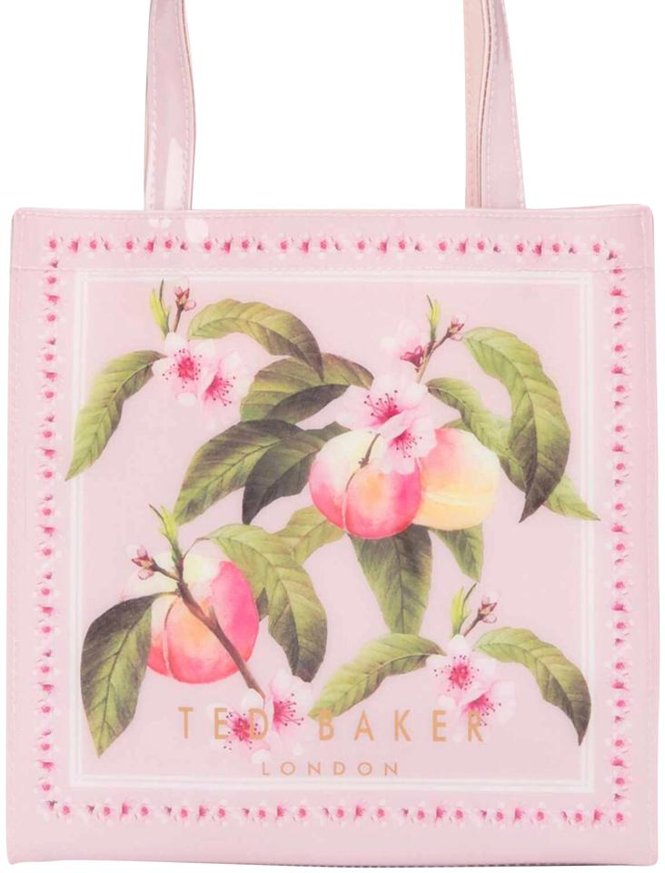 c1285aee6f2ee4 Ted Baker Peach Blossom Small Icon Light Pink Pvc Tote - Tradesy