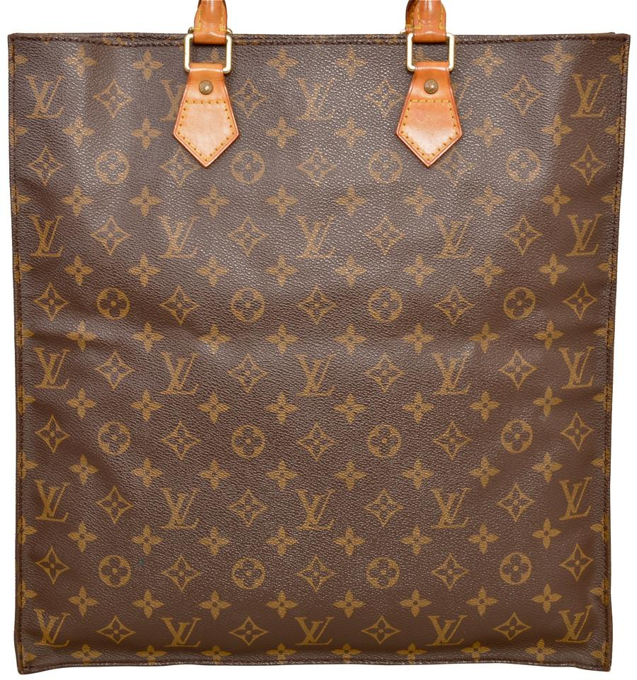5e5f94a0f15d Louis Vuitton Sac Plat Gm Large Size M51140 Shopper Brown Monogram Tote