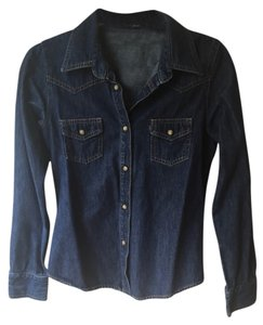 Earl Jean Button Down Shirt Denim