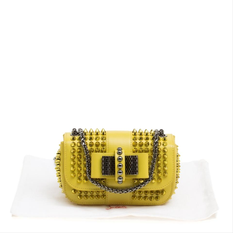 5bcdc74f5cc Christian Louboutin Mini Spiked Sweet Charity Crossbody Yellow Leather  Shoulder Bag 22% off retail